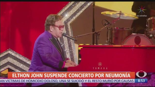 elton john suspende concierto por neumonia