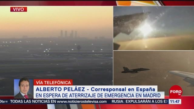 FOTO: 3 Febrero 2020, en espera de aterrizaje de emergencia en madrid