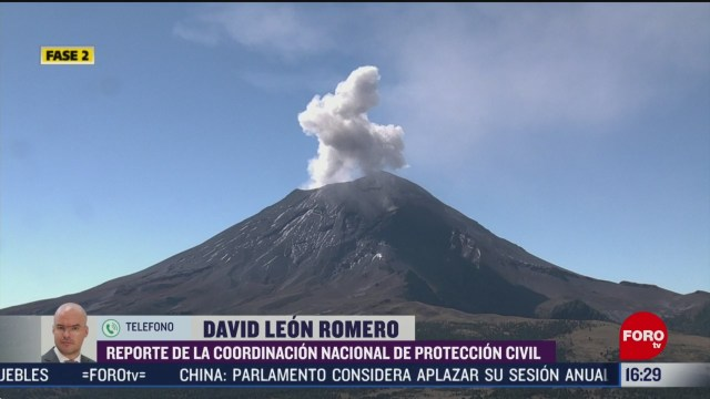 FOTO: en las ultimas 24 horas volcan popocatepetl registra 122 exhalaciones