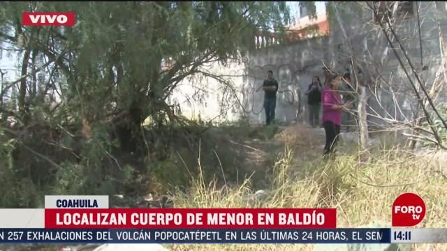 FOTO: encuentran cuerpo de un bebe en terreno baldio de coahuila
