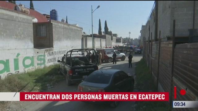 encuentran los cuerpos de dos mujeres en ecatepec