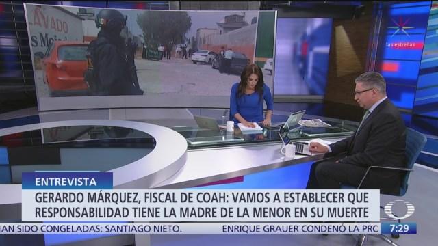 entrevista con el fiscal de coahuila por el caso karol naomi