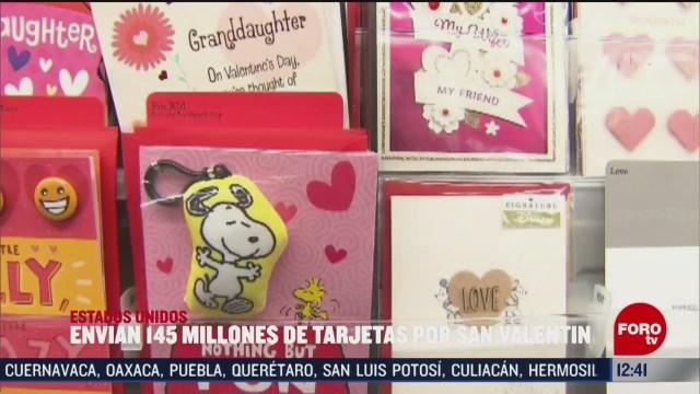 envian 145 millones de tarjetas de san valentin en estados unidos