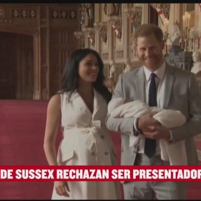 #EspectáculosenExpreso: Duques de Sussex rechazan ser presentadores
