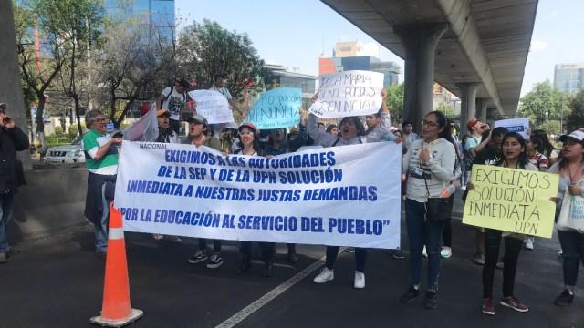 estudiantes upn bloquean periferico sur