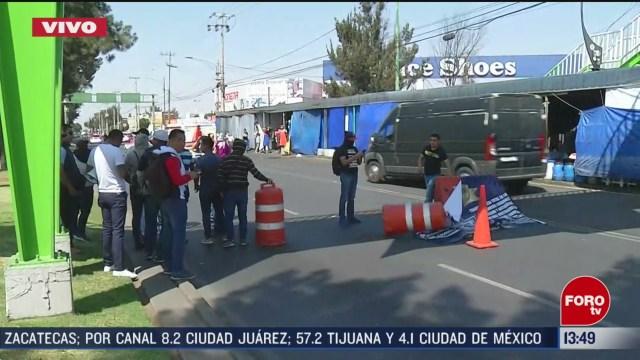 FOTO: extrabajadores de la policia federal bloquean en periferico oriente