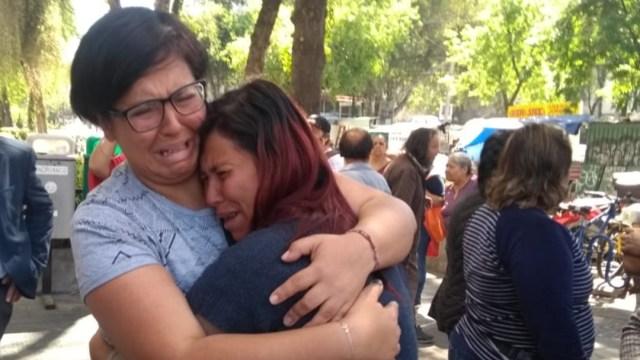 Madre de la niña Fátima (der) pide justicia por su hija y por todas las mujeres asesinadas (Foto: Noticieros Televisa/S. Servín)