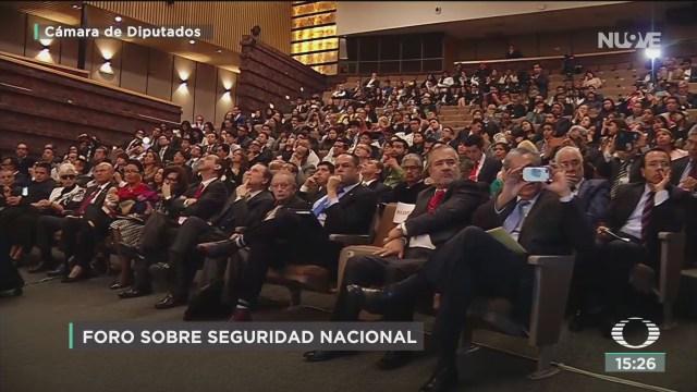 FOTO: foro la seguridad nacional de mexico en la camara de diputados