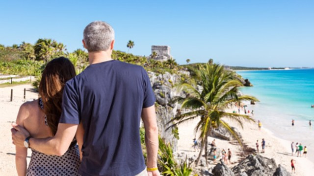Foto: Turistas visitan zona arqueológica en Quintana Roo. Getty Images