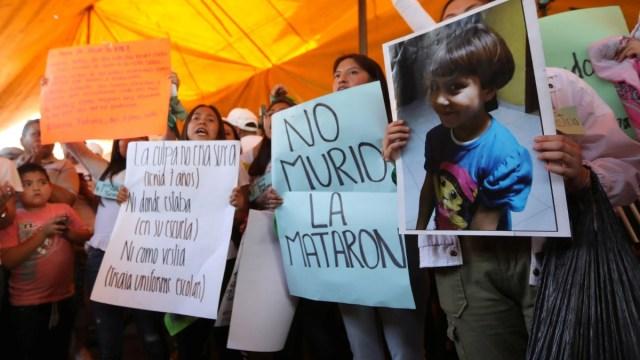 Foto: Vecinos protestan por el feminicidio de Fátima. Reuters