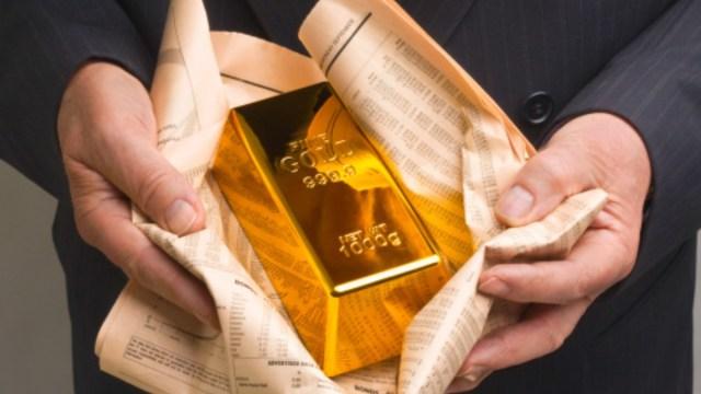 Foto: Lingote de oro. Getty Images