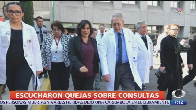 funcionarios federales recorren hospital juarez para supervisar operaciones