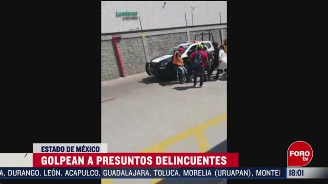 FOTO: golpean a presuntos delincuentes en edomex