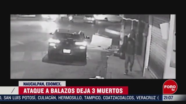 Foto: Video Graban Ataque Balazos Naucalpan Edomex 25 Febrero 2020