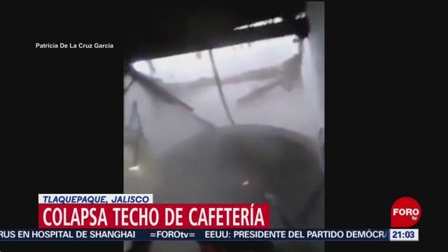 Foto: Video Colapso Techo Cafetería Tlaquepaque Jalisco 6 Febrero 2020