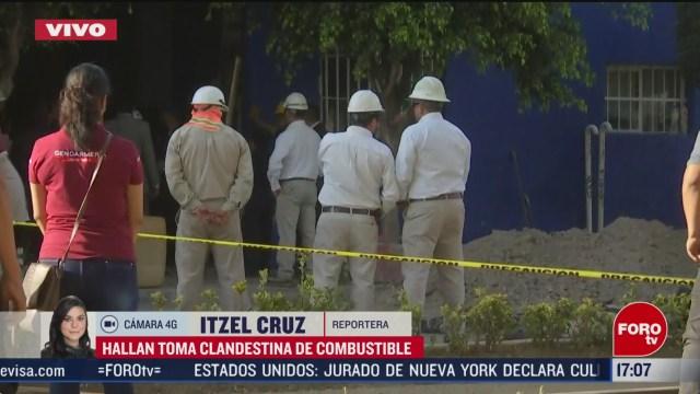 FOTO: hallan toma clandestina de combustible en cdmx