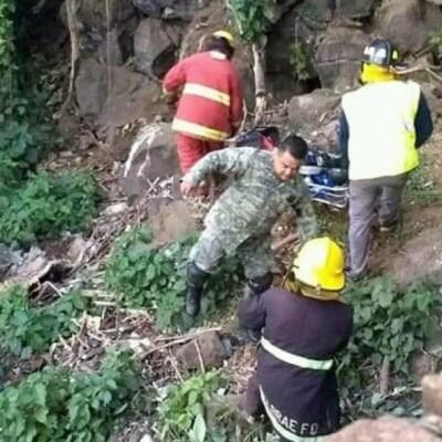 FOTO: Muere hombre tras caer a río en Michoacán, el 23 de febrero de 2020