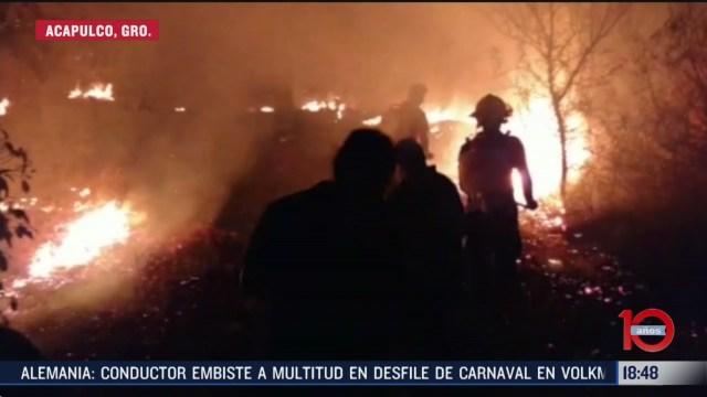 FOTO: incendios forestales movilizan a bomberos y brigadistas en acapulco