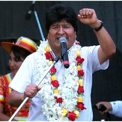 Foto: Evo Morales acusa a Jeanine Áñez de haber terminado con todo en Bolivia, 16 de febrero de 2020 (AP)