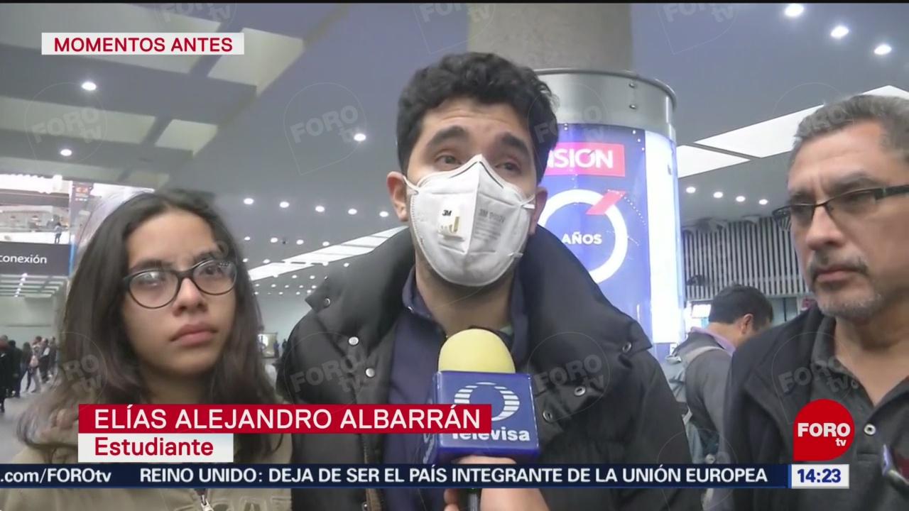 FOTO: 1 Febrero 2020, llegan estudiantes mexicanos provenientes de china