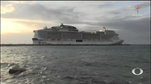 Foto: Crucero Meraviglia Mantienen Atracado Cozumel 27 Febrero 2020