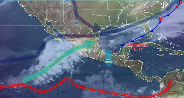 Photo: Image of significant meteorological phenomena at 06:00 hours, February 1, 2020