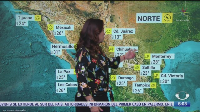 masa de aire polar cubrira el noroeste norte y noreste de mexico