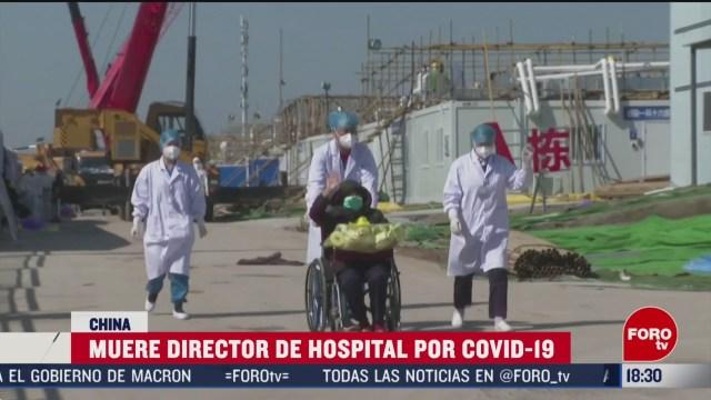 FOTO: muere director hospital wuhan por coronavirus