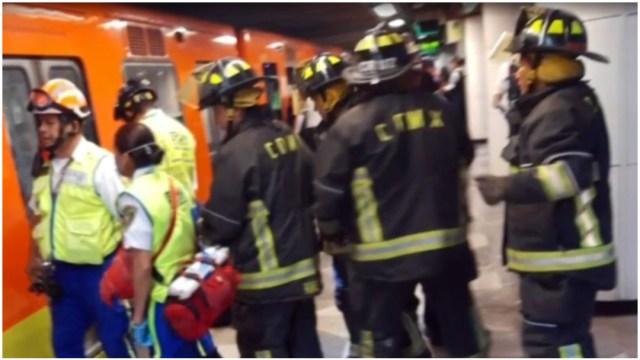 Foto: Muere persona tras arrojarse a vías del Metro Escuadrón 201, 8 de febrero de 2020 (Foro TV)