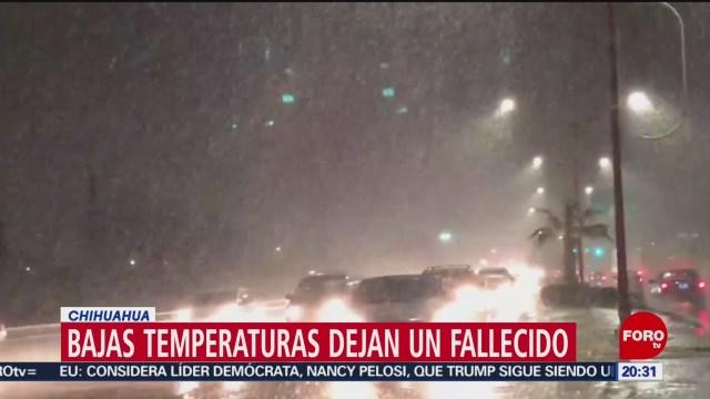 Foto: Muere Persona Bajas Temperaturas Chihuahua 5 Febrero 2020