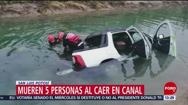FOTO: 2 Febrero 2020, mueren cinco personas al caer en canal en san luis potosi