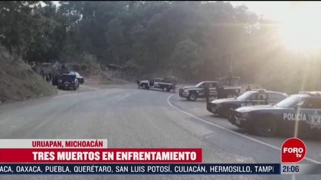 FOTO: 15 Febrero 2020, mueren una menor y dos presuntos delincuentes en uruapan