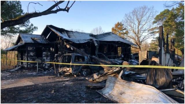 Foto: Siete integrantes de una familia murieron tras incendio en casa de Mississippi, 8 de febrero de 2020 (AP)