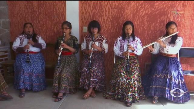 Foto: Mujeres Viento Florido' Banda Musical Indígenas Oaxaca 4 Febrero 2020