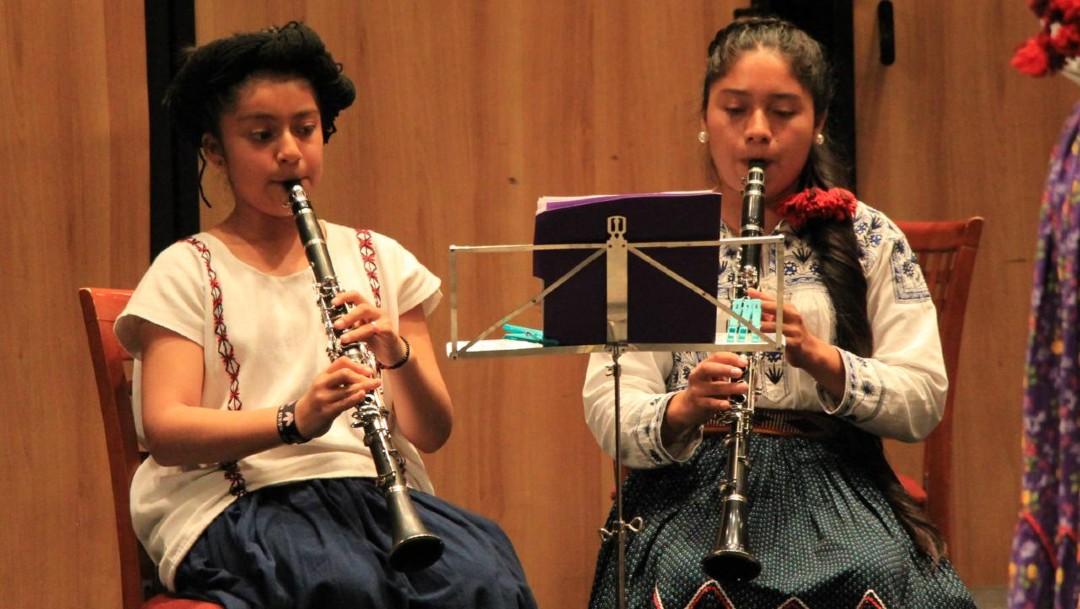 'Mujeres del Viento Florido', banda de indígenas de Oaxaca