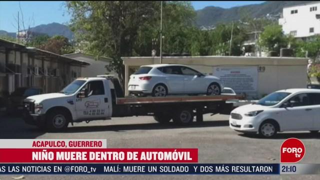Foto: Niño Muere Asfixiado Dentro Automóvil Acapulco 13 Febrero 2020