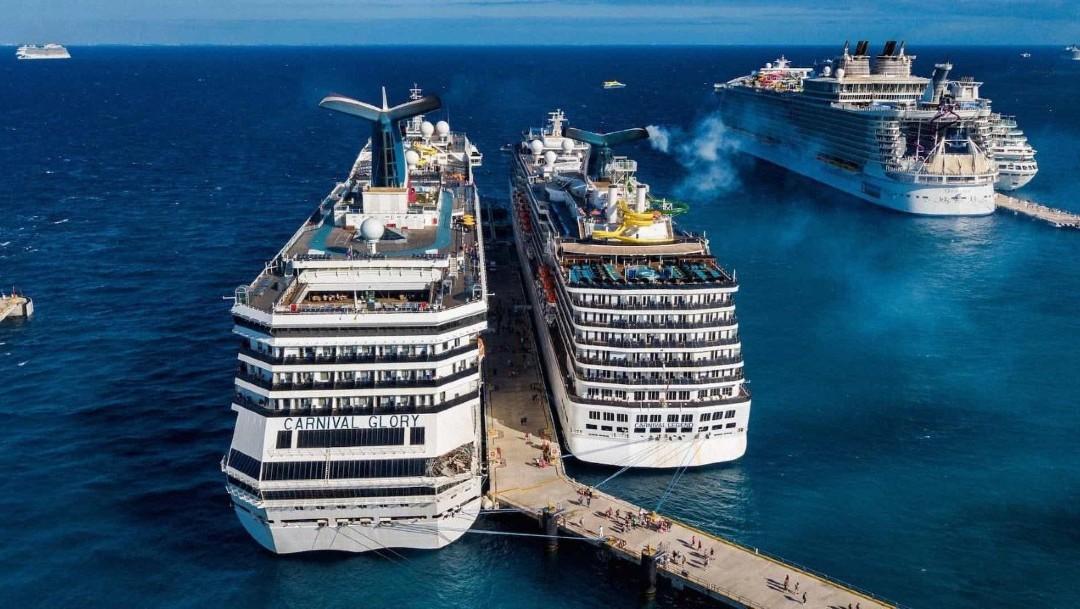 Foto: 'No existe posibilidad de coronavirus en crucero de Cozumel', dice AMLO
