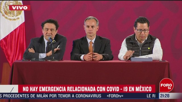 Foto: Emergencia Coronavirus México Secretaría de Salud 28 Febrero 2020