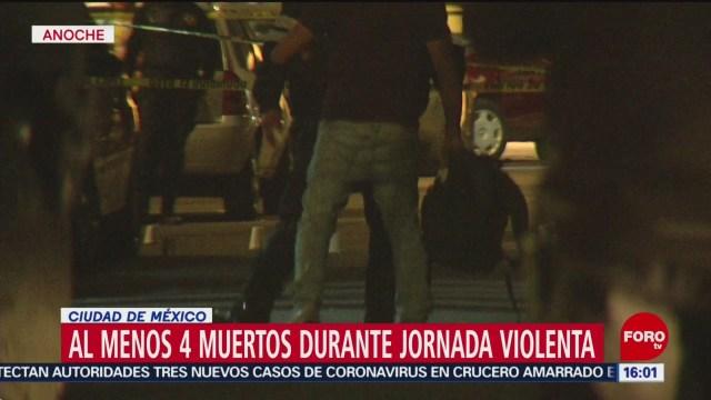 FOTO: noche y madrugada violenta en la ciudad de mexico