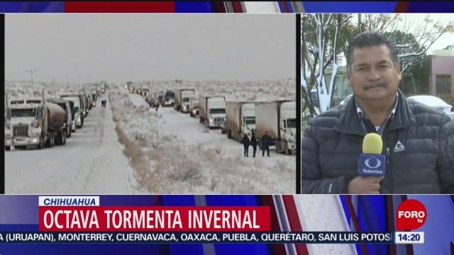 FOTO: octava tormenta invernal provoca caida de nieve en chihuahua