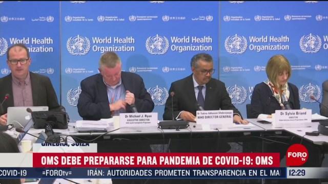 oms advierte que el coronavirus si tiene potencial de pandemia
