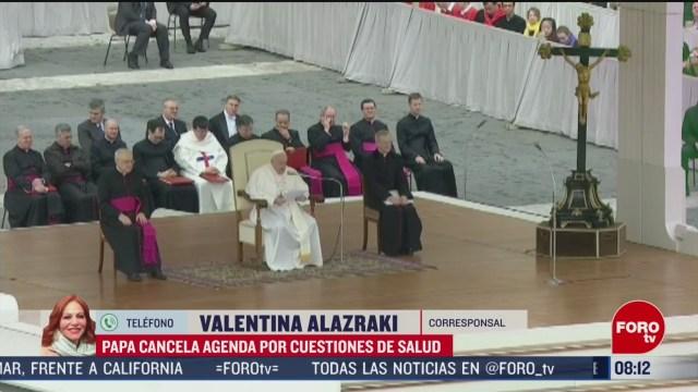 FOTO: 29 febrero 2020, papa francisco cancela su agenda por tercer dia consecutivo por un resfriado