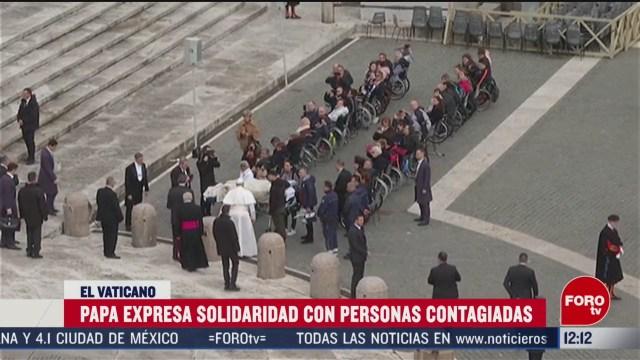 papa francisco celebra misa de cuaresma al aire libre por alerta de coronavirus