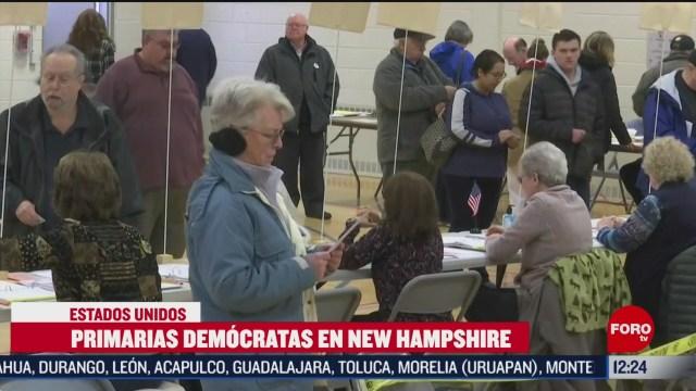 partido democrata celebra elecciones primarias en new hampshire