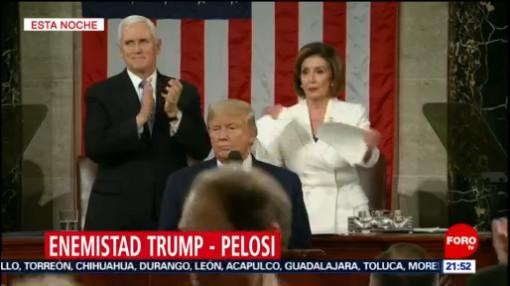 Foto: Video Nancy Pelosi Rompe Discurso Trump4 Febrero 2020