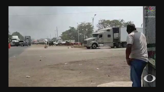 Foto: Pobladores Ciudad Isla Veracruz Retiro Guardia Nacional 11 Febrero 2020