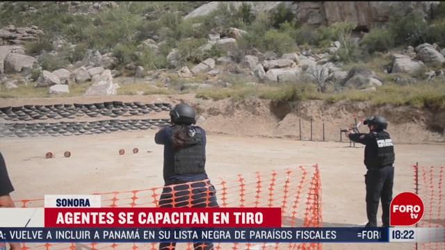 FOTO: policia estatal de sonora capacita a elementos en armamento y tiro