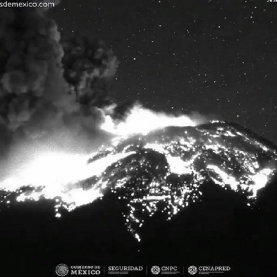 El Popocatépetl registra fuerte explosión de 1.5 kilómetros de altura