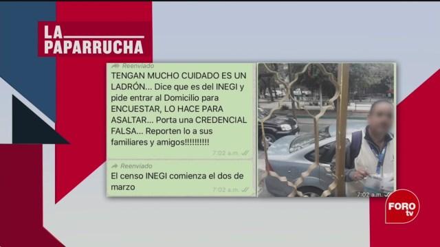 Foto: Presunto Entrevistador Inegi Asaltante Noticias Falsas 20 Febrero 2020