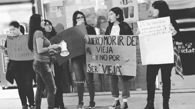 foto: Protestan mujeres en Metro de Monterrey por casos de acoso, el 23 de febrero de 2020